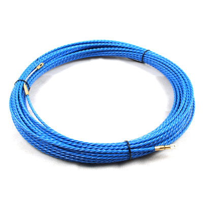 Leader cable with a low friction coating to allow ease of insertion into old underground pipes